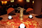 Blue Naartjie Teambuilding - Decor Services, table setting with centre piece