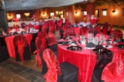 Blue Naartjie Teambuilding - Decor Services, example with red and black