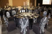 Blue Naartjie Teambuilding - Decor Services, example with black and silver