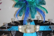 Blue Naartjie Teambuilding - Decor Services, peacock theme 6