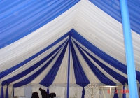 Blue Naartjie Teambuilding - Draping, white and blue
