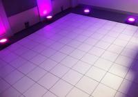 Blue Naartjie Teambuilding - Light and AV, purple lights on dance floor
