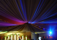 Blue Naartjie Teambuilding - Draping, draping with lights