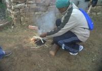 Blue Naartjie Teambuilding - Building fire